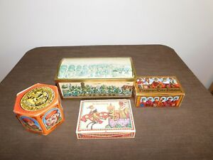 VINTAGE  E OTTO SCHMIDT W GERMANY NUREMBERG BISCUIT RAILROAD CANDY TIN