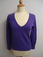 01/242 Street One Damen Pulli Pullover Gr. 38 lila violett V-Ausschnitt Langarm