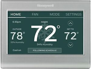 Honeywell Home - Smart Color Thermostat with Wi-Fi Connectivity - Silver