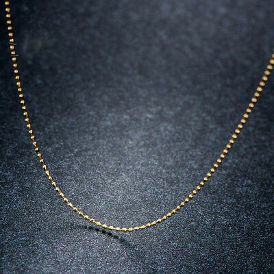 """Au750 Fine Real 18K Yellow Gold Necklace Women/'s Elegant Snake Chain 17.7/""""L"""