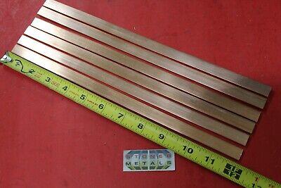 "2 Pieces 1//4/""x 1//2/"" C110 COPPER BAR 12/"" long Solid Flat .25/"" Bus Bar Stock H02"