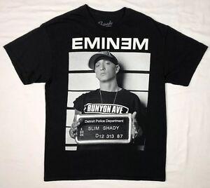 Eminem-Mens-Slim-Shady-Mugshot-Rap-Hip-Hop-Black-S-S-T-Shirt-Sz-Large-E1