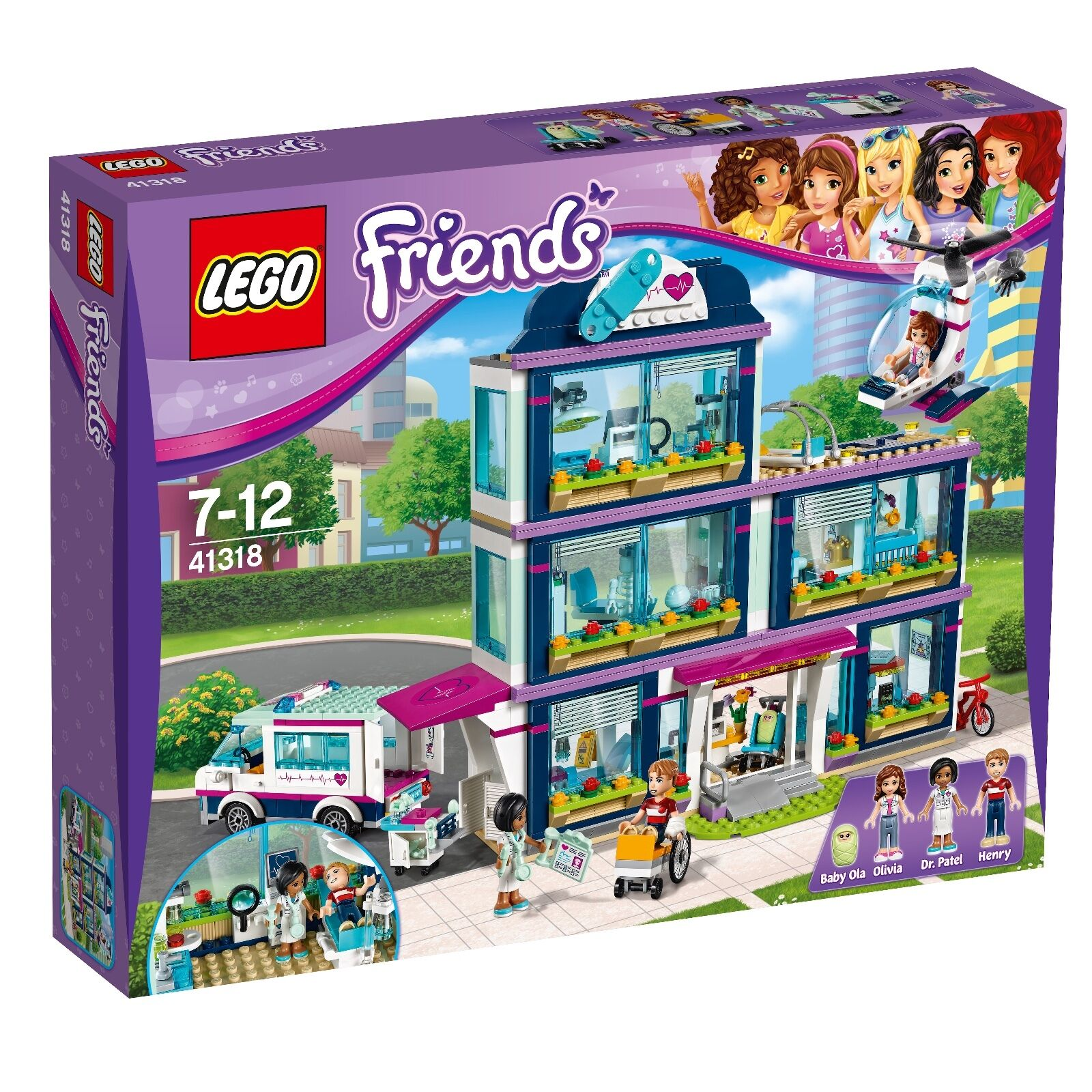 LEGO ® Friends 41318 Heartlake hôpital Nouveau neuf dans sa boîte _ Heartlake Hospital new Boîte d'origine jamais ouverte