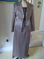 Maria Coca Mother Of The Bride 3pc Suit Skirt Top & Jacket Sz 10-12 $1995