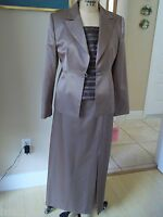 Maria Coca Mother Of The Bride 3pc Suit Skirt Top & Jacket Sz 10-12 $1995