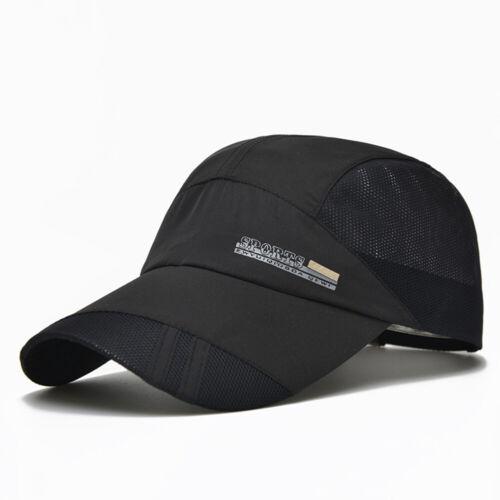 Summer Men Unisex Baseball Mesh Hat Running Visor Outdoor Sport Quick-drying Cap