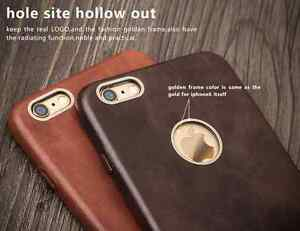 iPhone-6-6-Plus-Genuine-Leather-QIALINO-Slim-Snap-On-Back-Case-Tempered-Glass
