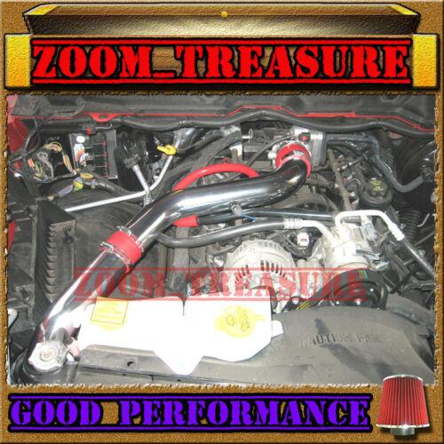 RED 2008-2010//08-10 DODGE RAM 1500 4.7 4.7L V8 FULL COLD AIR INTAKE KIT STG3