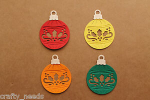 10PC-Christmas-Ornaments-Bauble-Die-Cuts-Embellishments