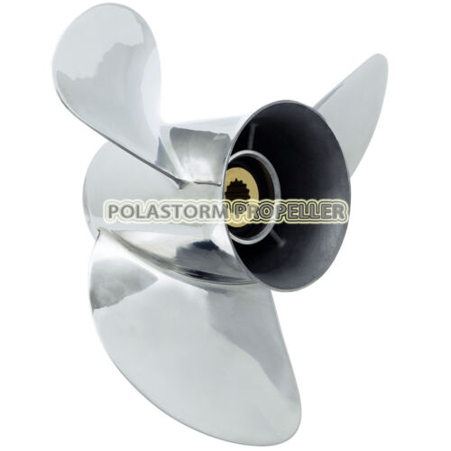 Stainless Steel Outboard Propeller 13 1//4X17 for Honda 75-130HP 08M60-ZW7-A10