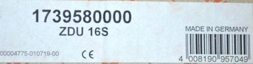 Weidmüller ZDU 16S Durchgangsklemme 1739580000 10 STÜCK NEU
