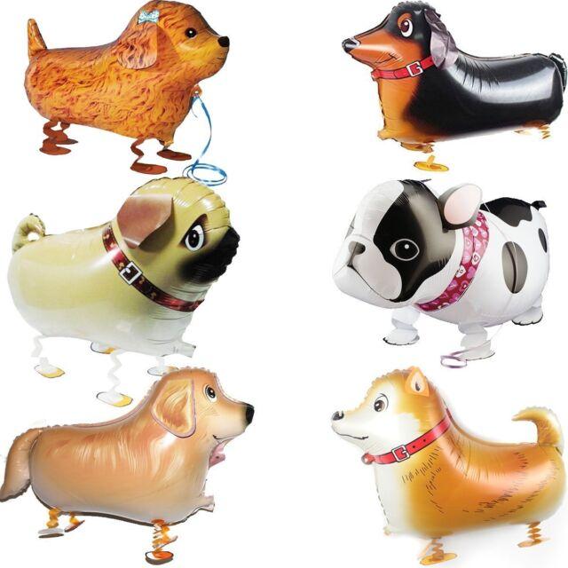GuassLee Walking Animal Balloons Pet Dog balloons - 6pcs Dog Balloon Air Kids