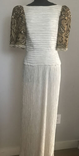 Vintage MARY MCFADDEN COUTURE Jeweled Fortuny Plea