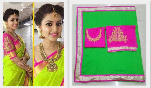 Saree Bollywood Indian Designer Sari Pakistani Wear Blouse Party Wedding AF
