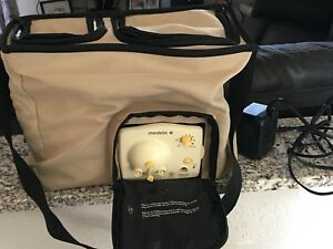 Medela Advanced Personal Double Breastpump Tan Tote Shoulder Bag