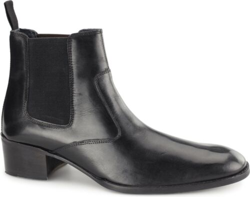 Gucinari LUCCA Mens Leather Twin Gusset Formal Smart Casual Chelsea Boots