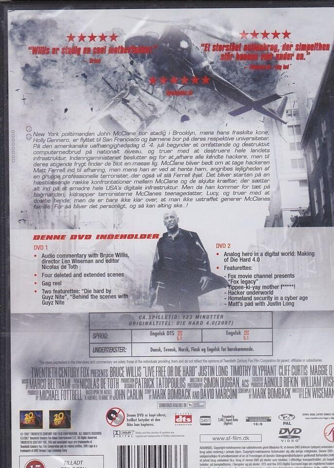 Die Hard 4.0 Ny i folie, DVD, action