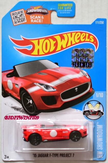 Hot Wheels 2016 #111//250 2015 JAGUAR F-TYPE Project 7 red HW Showroom Case D