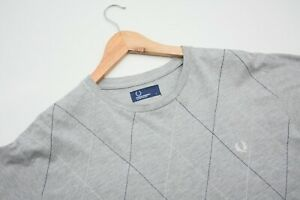 Authentic-Fred-Perry-Short-Sleeve-Gray-T-Shirt-Men-039-s-Large