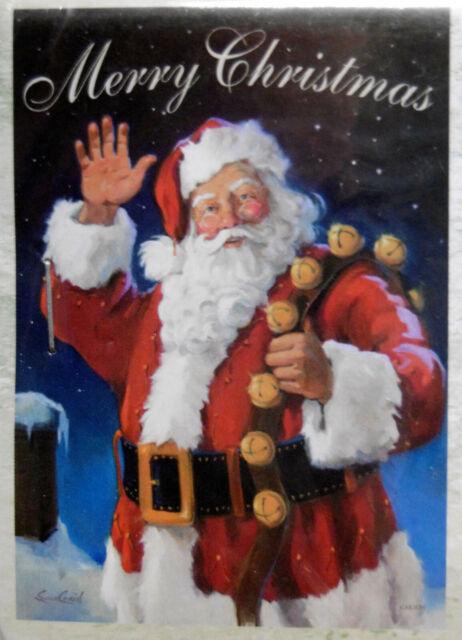 "FM28 SANTA/'S CHRISTMAS LIST NAUGHTY OR NICE 2 SIDED 12/""x18/"" GARDEN FLAG BANNER"