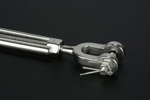 """5//16/"""" Jaw and Jaw Turnbuckle Open Body 316 Stainless Steel for Sailboat Rigging"""