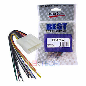 s l300 bha7552 aftermarket radio replacement wire harness for nissan Nissan NV3500 at gsmx.co