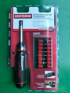 New-Craftsman-Ratcheting-Ready-Bit-Screwdriver-41796-Made-In-USA