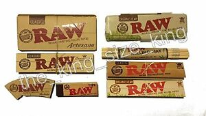 Raw-King-Size-Rolling-Papers-And-Kingsize-Tin-Holder-Tips-And-Mat-Paper-Set