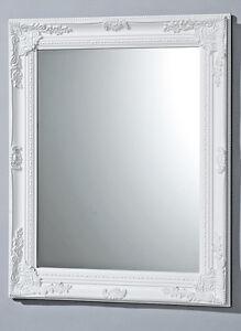 Alta-Calidad-Espejo-de-pared-en-blanco-modelo-Barroco-82x62cm