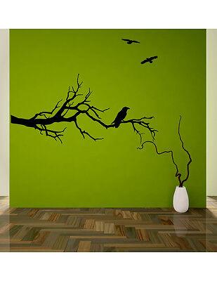 Ravens on a branch wall decal, sticker GOT fans vinyl