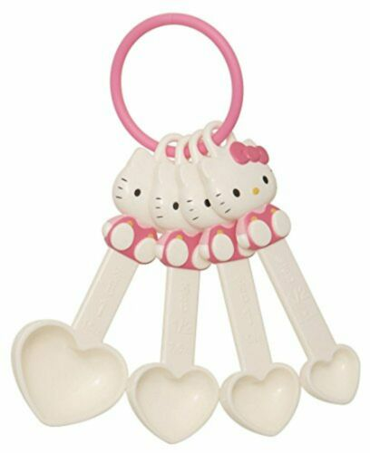 Skater Hello Kitty die-cut measuring spoon amount by four set Sanrio KMS1D F//S