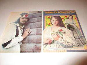 LINDA-BLAIR-original-magazine-pinup-LOT-of-2-rare-8x11