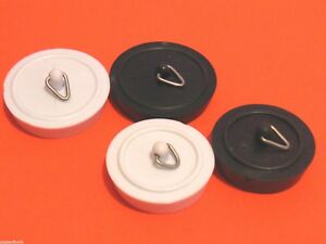3 4 Plugs >> Details About Bath Plug Kitchen Sink Plugs 1 3 4 1 1 2 Plastic Basin Plug White Black Plugs