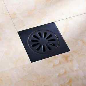 4 Square Bathroom Floor Shower Drain Floor Waste Grate Oil Rubbed