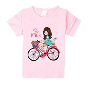 Girls-Cute-Clothes-Summer-Christmas-Gift-Casual-Top-T-Shirts-Basic-Tee