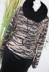 100% De Qualité Vero Moda Pull Wild Sweat Leo Animal Print Pull Noir Brun Xs 34 Vintage RafraîChissant Et Enrichissant La Salive