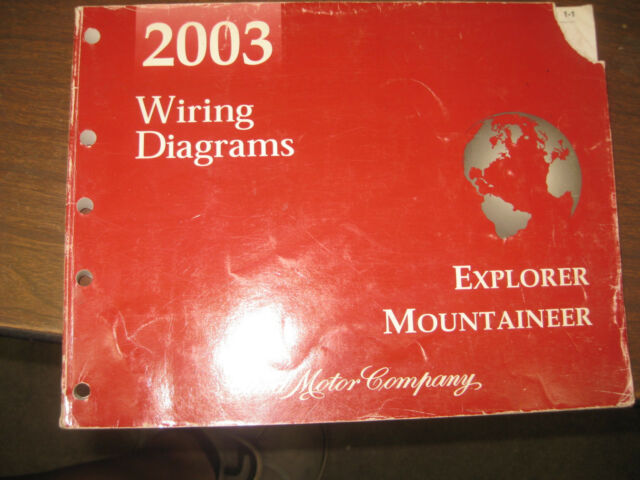 2003 Ford Explorer Mountaineer Service And The Electrical Wiring Diagrams