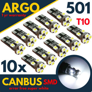 T10-501-W5W-LED-WHITE-CAR-SIDE-LIGHT-12V-BULBS-CANBUS-ERROR-FREE-WEDGE-XENON-HID