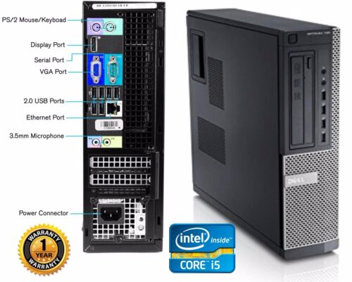 LOT 9 Dell 790 Desktop Computer Intel Core i5 2400 QC 3.10GHZ 250gb HD 8gb Ram