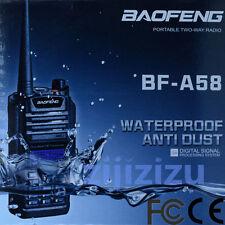 BAOFENG BF-A58 128CH Dual Band Walkies Talkies 2-Way Radio Waterproof Dustproof
