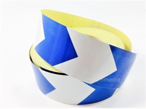 3m x 50mm Reflexstreifen Reflexfolie Selbstklebend Reflexband Pfeil Blau//Weiss