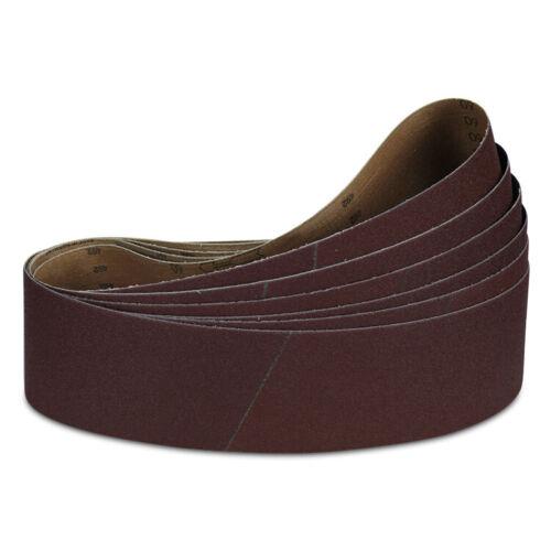 "4/"" x 21/"" Inch 100 Grit Aluminum Oxide Sanding Belt Kit Metal or Wood 6 Pack"