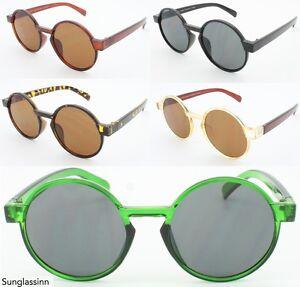 Circle-Large-Round-60-039-s-Sunglasses-Hippie-Steampunk-Frames-Mens-Women-039-s