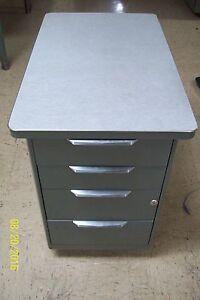 Vintage All Steel Equipment Mobile Drawer Metal Office
