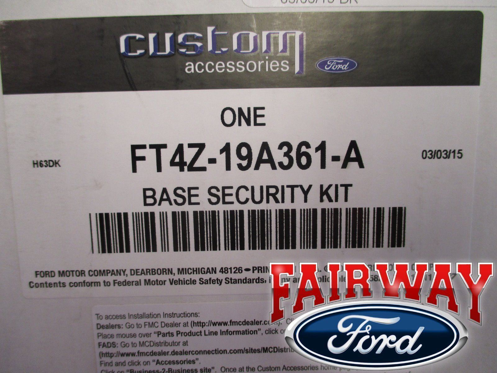 16 thru 17 Explorer OEM Genuine Ford Parts Scalable Shock Security System  Kit