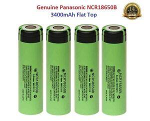4x-Genuine-Panasonic-18650-3400mAh-3-7v-Rechargeable-Lion-Battery-Vape-Flat-Top
