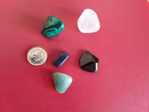 Healing Crystals Bag Group 36 for Tourettes Dyslexia and Negative Thoughts