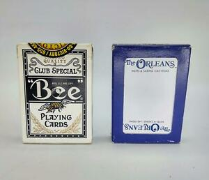 2 pks Authentic Casino Playing Cards Blue Bee from FL and The Orleans from Vegas