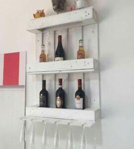 Portabottiglie e bicchieri con bancali modulo da 50x70 for Vendita pallet per arredamento