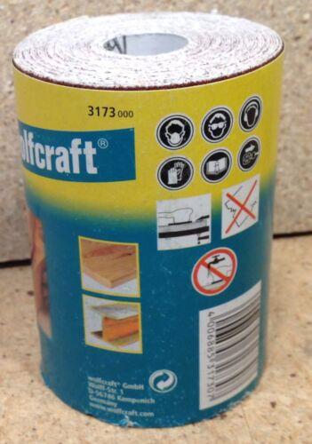 Wolfcraft 1 Rolle Schleifpapier Schleifpapierrolle   5m x 93mm  K100  3173000